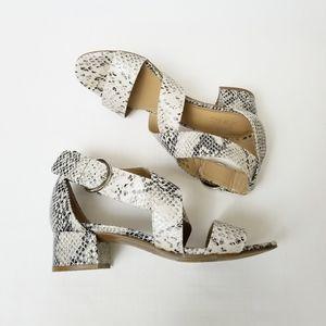 Naturalizer Alexa Sandal Snakeskin Block Heel